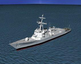 3D model Burke Class Destroyer DDG 77 USS O kane