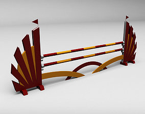 3D jumping Horse jump obstacle