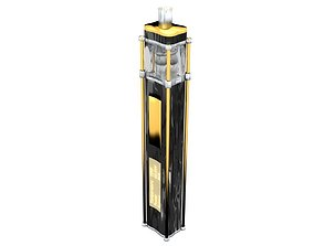 3D Luxury gold vape