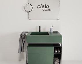 3D asset CIELO Narciso Mini washbasin