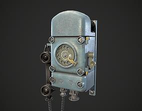Bunker retro telephone 3D model