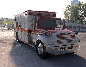 3D asset truck ambulance vray