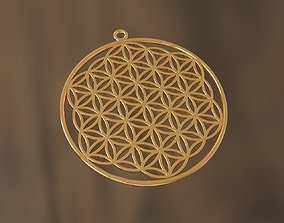Flower of Life pendant 3D print model printable