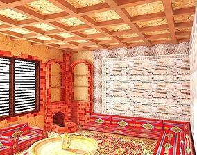 3D model intricate Popular room