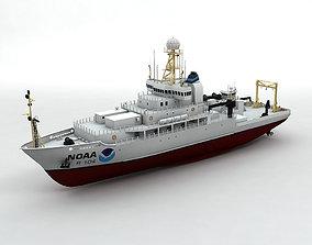 NOAA Ocean Atmosphere Research Vessel Boat Ship 3D