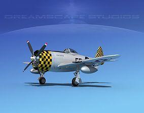 Republic P-47D Thunderbolt V18 3D model