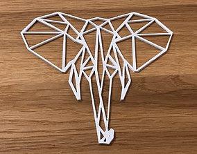 Geometric Elephant 3D print model