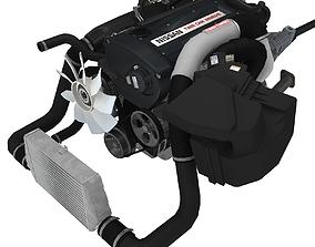 Nissan RB26DETT engine 3D asset