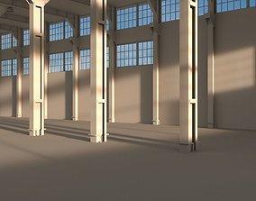 Factory warehouse 3D asset