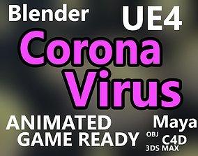 3D model virus corvid-19 coronavirus corona