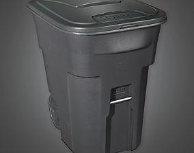 City Trashcan TLS - PBR Game Ready 3D asset