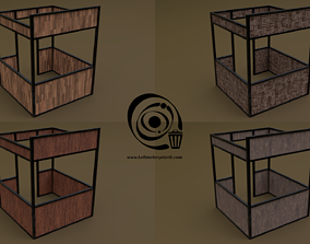Stall stand 05 4in1 R - 4 PBR Texture 1 Model 3D asset