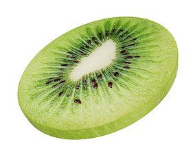 Kiwi round slice peeled 3D