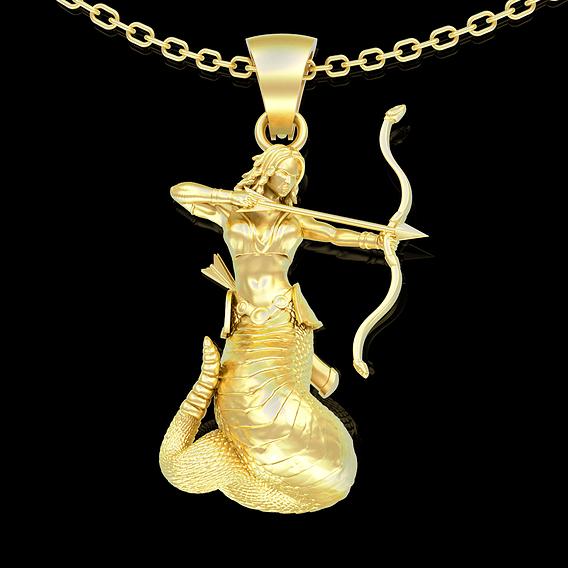 Medusa Gorgon pendant jewelry gold necklace medallion 3D print model