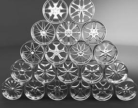 3D model 20 Wheel Rims 021-040