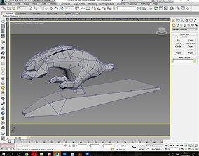 Running Rabbit low poly 3D asset
