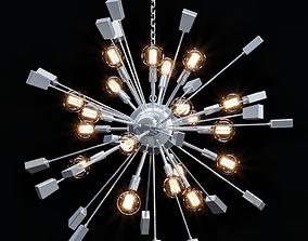 3D Loft Industrial Sputnik Chandelier