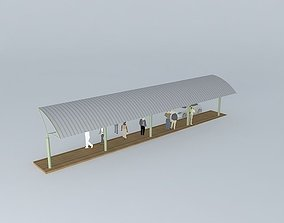 3D model Bus stop sunshade