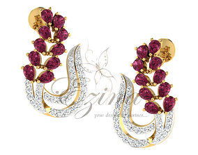 Fashion diamond earing 3 3D printable model