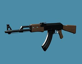 gun 3D High Poly Ak 47 Model