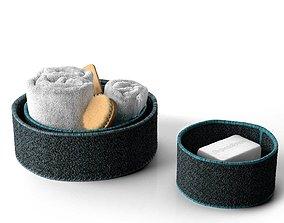 3D Bath Accessories in Baskets
