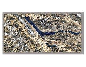 lake Mountain landscape 3D model