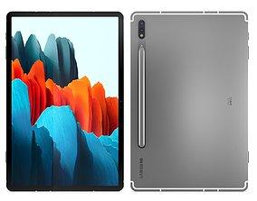 3D Samsung Galaxy Tab S7 Mystic Silver