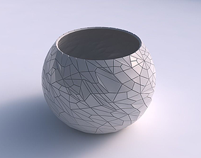 3D printable model Bowl spheric with chaos plates