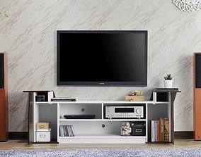 3D Wenge Weidel TV Stand for TVs up to 78