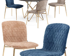 3D model Love chair and Stellar table - Calligaris