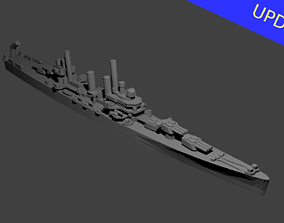 US Brooklyn Class Cruiser Warship 3D printable model