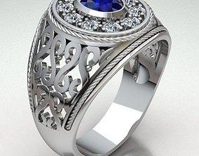 jewelry 3D print model Ring Man