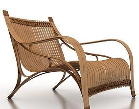 3D Bilah Bamboo ArmChair