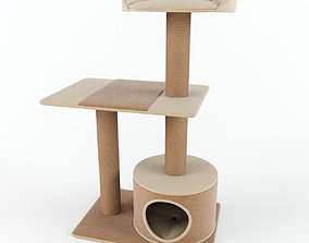3D model burrow Cat tree
