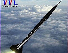 3D asset Black Brant II Sounding Rocket