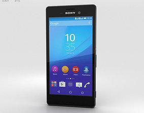 3D model Sony Xperia M4 Aqua Black