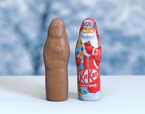 low-poly Chocolate Santa Christmas Model Photoscan