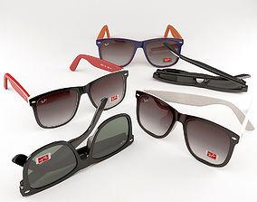 Sunglasses ray ban sun 3D