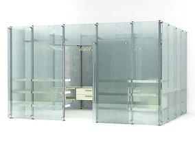 Modern glass wardrobe 81 am102 3D
