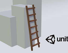 3D asset Wooden staircase