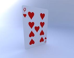 3D Nine of Hearts