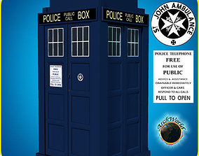 3D model animated Tardis