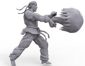 Ryu Hadouken 3D print model