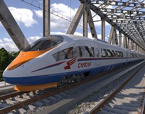 Hi-speed Electric Train Sapsan Siemens Velaro 3D model