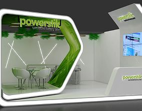 3D exhibiton 5x5Mtr Stand one side open