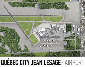 Quebec City Jean Lesage Airport 3D asset