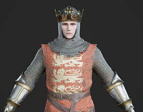 The king of the House of Plantagenet of England 3D model