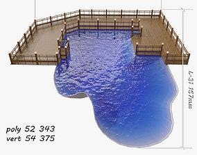 3D swimming pool wood