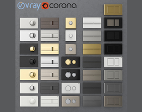 3D Flush buttons for installation Viega 2