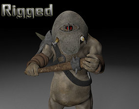 Armoured cyclop character 3D asset